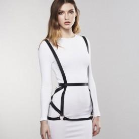 Чёрная упряжь ARROW DRESS HARNESS